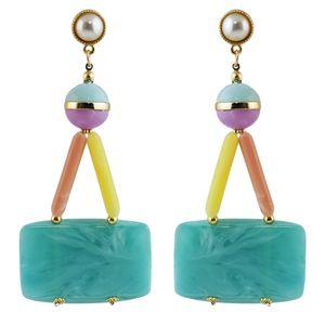 Idealway de moda de estilo bohemio Resina gota pendientes para las mujeres Diseño Jewelr