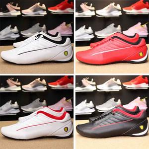 Novo MS Futuro Scuderia enzo Evo Gato Dos Homens de corrida de carros Botas de motocicleta sapatos homens gatos velocidade racer vermelho branco sneakers sapato casual eur37-45