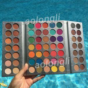 Makyaj Güzellik Sırlı 63 Renkler Göz Farı Paleti Muhteşem Me Göz farı Tepsi toz ışıltı mat Göz Kozmetik preslenmiş