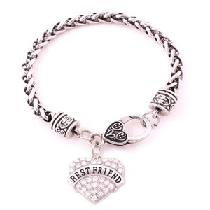 Специальные женщины сердце браслет дизайн лучший друг написано Подарок на День Рождения для BFF пшеницы цепи сплава цинка дропшиппинг
