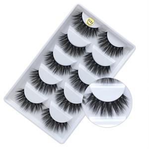 Pestañas postizas naturales pestañas gruesas de visón 3d largas pestañas de visón negro suave extensión maquillaje pestañas faux lashe