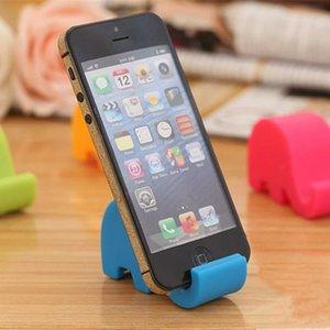 Şeker renk Sevimli fil Çevre plastik Telefon Standı Tutucu Evrensel Masaüstü Sofra Kalem Organizatör Storege Raf