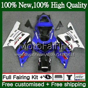 Body For SUZUKI GSX-R600 GSXR 750 K1 GSXR750 01 02 03 23MF9 Blue white GSXR 600 01 03 GSX-R750 GSXR600 2001 2002 2003 Fairing Bodywork