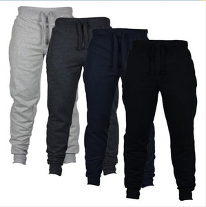 Mens Sport Casual Jogger Pants Trousers Man Full Length Pencil Pants Velour Elastic Waist Loose Pants With Pocket
