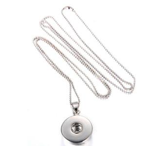 20 pz / lotto fai da te in lega a scatto ciondolo collana a catena di alta qualità dei monili che trovano gli accessori fit locket collane catene per le donne bottoni in lega