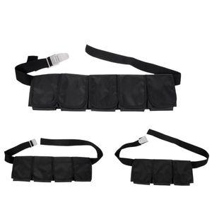 Buceo de buceo ajustable Buceo Snorkel 5 Equipo de engranaje de cinturón de peso de bolsillo para hombres Mujeres Deportes Acuáticos Accesorios de buceo libre
