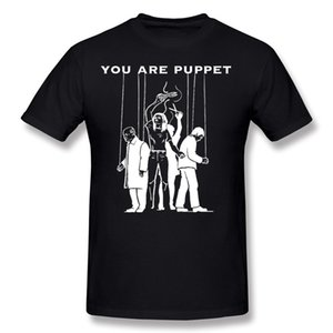 Wholesale Hombre Cotton You Are Puppet Trump T Shirt Tee-Shirts Hombre O Neck Red Short Sleeve T-Shirt Big Size Leisure Tee-Shirts