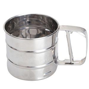 Acero inoxidable Sieve Cup harina en polvo Mesh Sieve Herramientas de horneado para pasteles Decorating Pastry Tools Bakeware Tools Utensilios de cocina