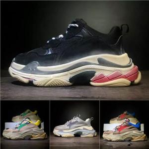 Paris 17FW Triple-S Chaussures de marche Chaussures Dad BL Triple S 17FW chaussures de sport pour Hommes Femmes Vintage Kanye West Old Grandpa Entraîneur extérieur
