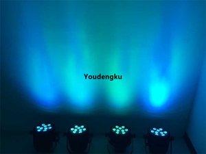 10 unidades China barato Batería al aire libre Inalámbrico Mini Impermeable IP 65 9X18W 6in1 rgbwa uv LED Par Puede LED Arandela de pared luz de la etapa
