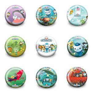 Octonauts Lovely Cartoon Spille Plastic Round 3.0CM Badges Bottoni freschi Perni Vestiti Borsa Accessori Per bambini Bomboni Regali per feste