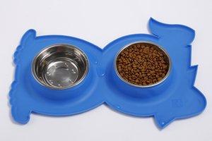 Mangiatoia per cani Alimentazione per animali domestici Alimentatori per cani stile creativo Doppio intestino per cibo e acqua