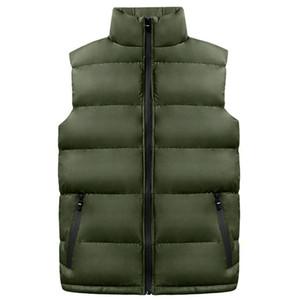 2018 Новый мужчины куртки без рукавов жилеты большой размер M-4XL зима толстые теплый человек повседневная мода жилет Жилет хлопок мягкий