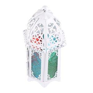 Ucuz satış Siyah Beyaz Metal mumluklar Demir fener Düğün Hediyesi Şekeri Için Ev Dekorasyonu Malzemeleri