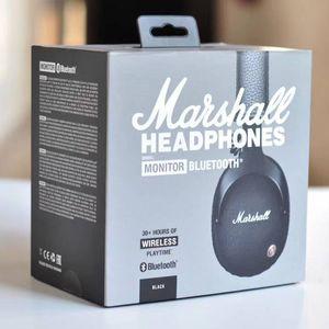 Für Marshall-Monitor Bluetooth faltbare Kopfhörer mit MIC-Leder-Noise-Cancelling tiefen Bass Stereo-Ohrhörer-Monitor DJ Hallo-Fi-Kopfhörern