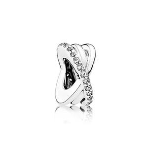 X помахал кристаллический шарм из бусины большой дырки мода женские ювелирные изделия европейский стиль для DIY браслет ожерелье браслет