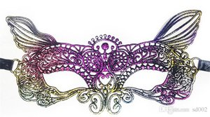 Halloween Dazzle Color Gilding Dentelle Masques Patch Demi Visage Maquillage Party Mardi Gras Party Masque 2 3xn ii