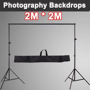 Commercio all'ingrosso 200CM 2M Professinal fotocamera telaio di supporto stand fotografia photo sfondo fotografico sfondo fotografica si trova in studio + bag