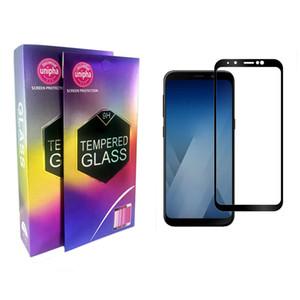 Für Samsung Galaxy J2 PRO 2018 A5 2018 A7 2018 A730 A8-2018-A830 A8-PLUS-2018 Volldeckung-ausgeglichenes Glas-Schirm-Schutz mit Kleinpaket