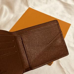 M60895 고급 디자이너 남성용 짧은 컴팩트 다중 지갑 모노 그램 캔버 영수증 브랜드 이름 Bifold wallet 무료 배송 좋은 품질