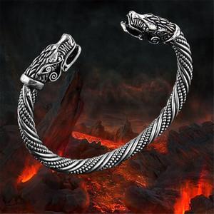 LAKONE Teen Wolf Head Braccialetto Gioielli indiani Accessori di moda Bracciale Viking Bracciale da uomo