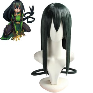 My Hero Hero Academia Tsuyu Asui Wig Cosplay Green Long Wigs 100cm Long Hair Women Girls Halloween Props Boku No Academia