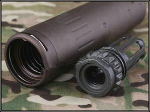 SCAR ACC Reverse Thread Flash Hider Schnauze mit QD Flash Hider Kit für M4 AR15 Toys Modus