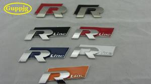 großhandel 10 teile / los 3D metall auto aufkleber Rline brief emblem abzeichen R linie auto styling R-linie auto körper dekoration zubehör