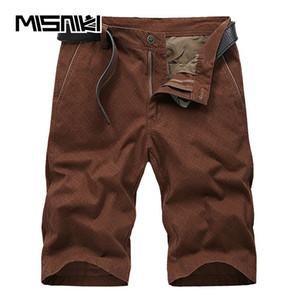 MISNIKI 2018 Moda Diseño Pantalones Cortos de Algodón Para Hombres Pantalones Cortos de Carga Homme Straight Male Homme AXP54