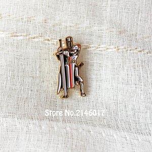25mm chevaliers maçonniques Templar Seal croisés Solomons Temple Lapel Pin Broche Garde avec épée Free Masons Pins Badge Metal Craft
