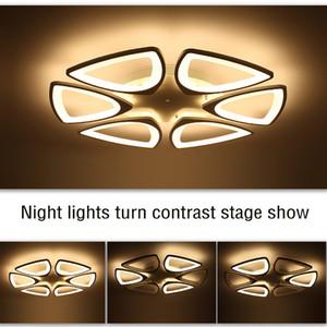 FULOC Nuovo acrilico moderno Led lampadario a soffitto luci per soggiorno camera da letto casa dicembre lampara de techo led lampadario moderno