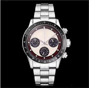 Новые мужские хронограф Vintage Perpetual Paul Newman японский кварцевый из нержавеющей стали Мужские Мужские часы Наручные часы