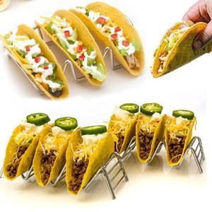 Taco Держатель Taco из нержавеющей стали Мексиканская пищевая стойка держит жесткие мягкие оболочки волны кухонный инструмент ресторан еда шоу C404