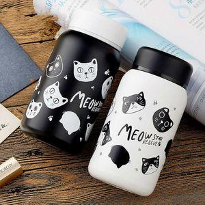 Karikatür Kediler için Paslanmaz Çelik Termos Çay Termos Karikatür Garrafa Termica çocuk Fincan Termos Kahve Kupa
