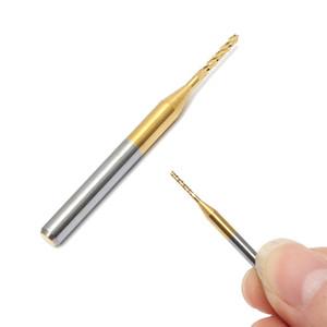 Nova Alta Qualidade De Titânio Revestimento PCB Brocas 1.2mm Carbide End Fresamento Cnc Broca Set 10 Peças