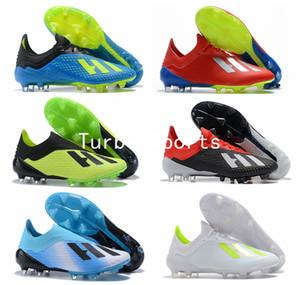 Coppa del mondo 2018 X 18.1 maglia FG Tacchetti da calcio uomo ramponi scarpe da calcio scarpe calcio zapatos botas de futbol Scarpe SKELETALWEAVE