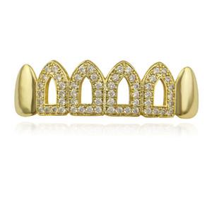 صديقة للبيئة كريستال النحاس الجسم مجوهرات الذهب الأسنان مجموعات الأسنان مشاوي الأسنان الهيب هوب الحمالات اكسسوارات الذهب والفضة الجسم الأسنان الديكور