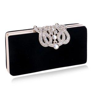 Kleine Frauen Clutch Crown Diamanten Dame Abendtaschen mit Kette Schulter Handtasche rot / lila / schwarz / blau Abendtasche hohe Qualität