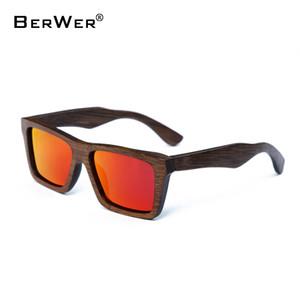 BerWer novos óculos de sol polarizados disponíveis para venda designer de óculos de sol de madeira de bambu