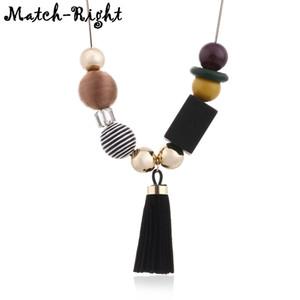 Tassel ожерелья Подвески для женщин Деревянные ожерелья заявлений ожерелье Colar женские модные украшения для подарков SP338