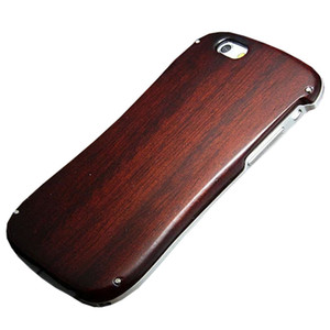 Luxury Wooden Case For Iphone 6s 6 5 5s Se Aluminum Metal Frame Wood Bamboo Cover Phone Case For Iphonese Coque