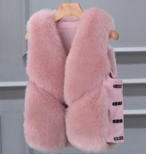Maomao giubbotto breve sezione femminile coreano versione 2018 autunno e l'inverno nuovo gilet giacca di pelliccia erba spalla