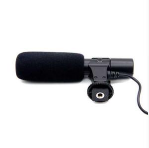 Yeni 3.5mm Evrensel Mikrofon Harici Stereo Mikrofon Canon Nikon DSLR Kamera DV Kamera
