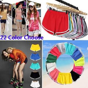 Mulheres Shorts De Algodão Para Yoga Sports Gym Homewear Calças de Fitness Verão Calções de Praia Correndo Para Casa Roupas Calças 22 Cores HH7-1215