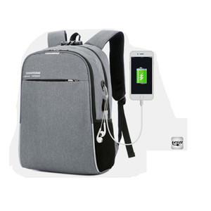 Nueva moda de alta calidad USB bagpack 15.6 pulgadas de la mochila del ordenador portátil para las mujeres de los hombres de la mochila de la escuela del bolso para las muchachas del muchacho Male Travel Mochila USB bolsa