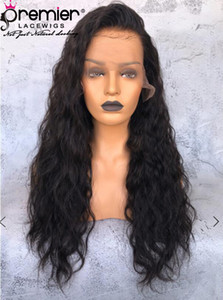 Premier Glueless Full Lace Human Hair Wigs Brazilian Remy Hair Water Wave Pre-Plucked Natural Hairline With Babyhair