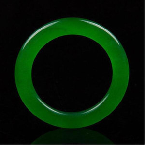 Chinesa Natural Linda Green Jade Jadeite Bangle Pulseira artesanal bonito