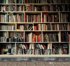 Biblioteca de vinilo de 5x7 pies Biblioteca de madera Fondo de estudio de fotografía de fondo