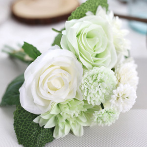 European artificial rose silk flower DIY wedding party decoration flower Road Cited Ball Stage props 30cm
