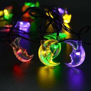Magicnight 15ft 20LED Güneş Dize Işık Su Geçirmez Açık Noel Aydınlatma Dekor Ay Elmas Denizyıldızı Petunya Ayçiçeği Buz piton